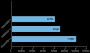 Lámina 1: cantidad de folículos por etnia